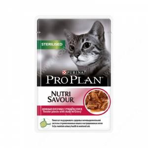 Pro Plan Sterilised Cat (Утка в соусе), пауч, 85 г