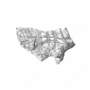 Пуховик серебристый металлик, 20 см