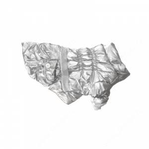 Пуховик серебристый металлик, 30 см