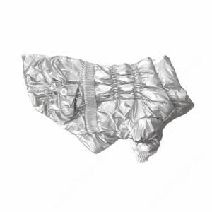Пуховик серебристый металлик, 35 см