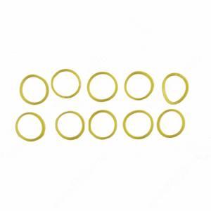 Резинки для челки ярко-желтые