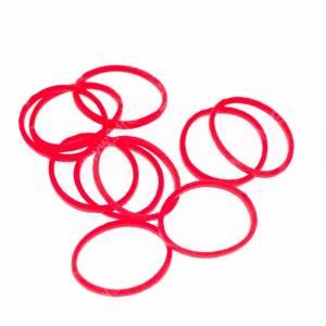 Резинки Milton яркие, красные, 10 шт.