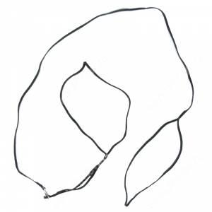 Ринговка Hello Pet PEA-03 капроновая с кольцом, 120 см*3 мм, черная