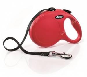 Рулетка Flexi New Classic Compact, L до 50 кг,  8 м, красная