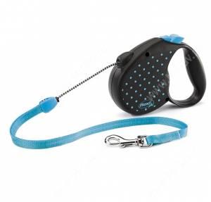 Рулетка Flexi Color, S, до 12 кг, 5 м голубая