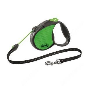 Рулетка Flexi Limited Edition Neon Reflect, S, до 12 кг, трос, 5 м, зеленая