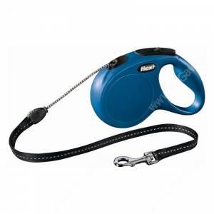 Рулетка Flexi New Classic Basic, M, до 20 кг, 5 м, синяя