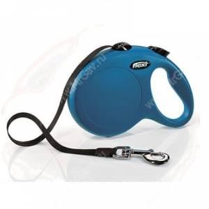 Рулетка Flexi  New Classic Compact, L до 50 кг, 5 м,  синяя