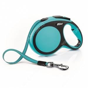 Рулетка Flexi New Comfort Compact, L, до 50 кг, 8 м, синяя