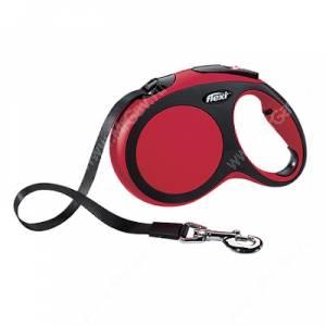 Рулетка Flexi New Comfort Compact, L, до 60 кг, 5 м, красная