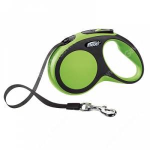 Рулетка Flexi New Comfort Compact, S, до 15 кг, 5 м, зеленая