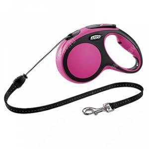 Рулетка Flexi New Comfort, M, до 20 кг, 5 м, розовая