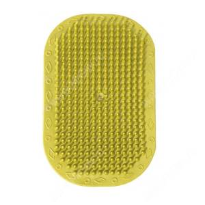 Щетка резиновая на руку, большая, желтая