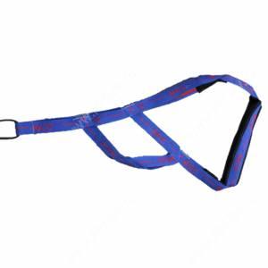Шлейка ездовая Dream Sled Dog  2, М, синий с рисунком