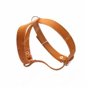 Шлейка кожаная Лаурон 36-53, 38-62*2 см, светло-коричневая