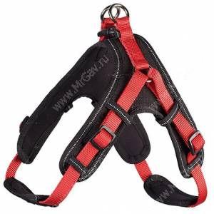 Шлейка неопреновая Hunter Vario Quick Neopren XL, красно-черная
