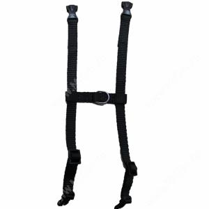 Шлейка нейлоновая Collar Dog Extreme, 12-22 см*1 см, черная