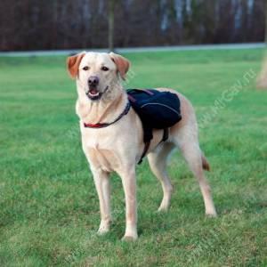Шлейка-рюкзак для собаки Trixie, L, 29 см*15 см чёрный