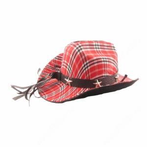 Шляпка Дикий запад, красная - уценка