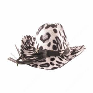 Шляпка леопардовая, белая