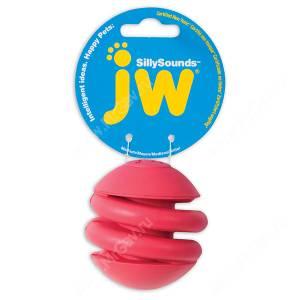Спиральный мяч JW Silly Sounds  из каучука с пищалкой , большой
