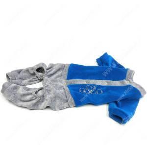 Спортивный костюм из велюра OSSO, 28 см, голубой