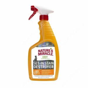 Спрей для устранения пятен и запахов от кошек 8in1 Nature's Miracle Orange-Oxy с активным кислородом, 709 мл