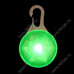 Светящийся брелок с карабином NiteIze, зеленый