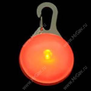 Светящийся брелок с карабином NiteIze, оранжевый