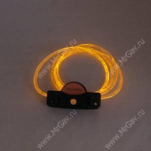 Светящийся шнурок с креплением, оранжевый