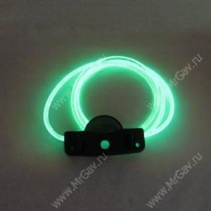 Светящийся шнурок с креплением, зеленый