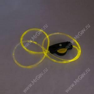 Светящийся шнурок с креплением, желтый