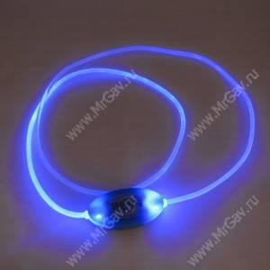 Светящийся шнурок, синий