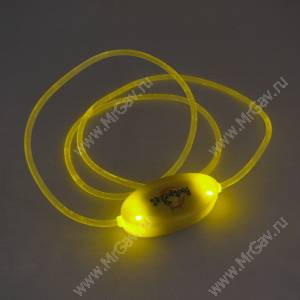 Светящийся шнурок, желтый