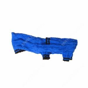 Комбинезон вязаный Dezzie с капюшоном синий, 25 см