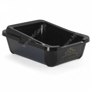 Туалет-лоток с бортом Moderna Luxurious, 51 см* 39 см*19 см, черный