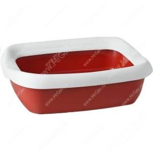 Туалет-лоток с рамкой MPS BETA Mini, 43 см*31 см*12 см, красный