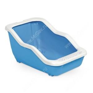 Туалет-лоток с рамкой MPS NETTA Open, 54 см*39 см*29 см, голубой