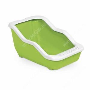 Туалет-лоток с рамкой MPS NETTA Open, 54 см*39 см*29 см, салатовый