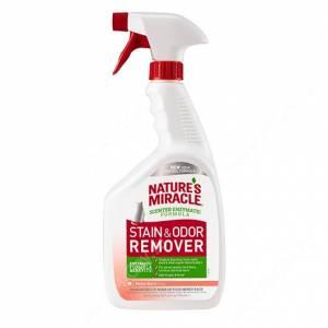 Уничтожитель пятен и запахов для кошек универсальный с ароматом дыни 8in1 Nature's Miracle, 946 мл