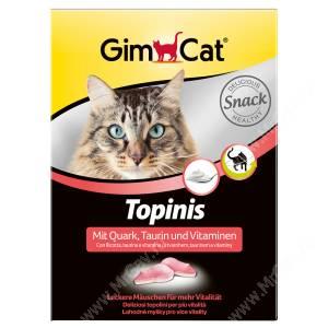 Витамины для кошек GimCat Topinis мышки творог + таурин, 220 г