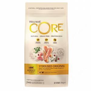 Wellness Core для стерилизованных кошек и кастрированных котов из индейки с курицей