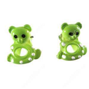 Зажимы Мишки зеленые