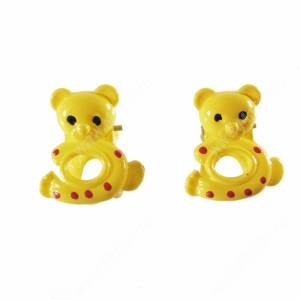 Зажимы Мишки желтые