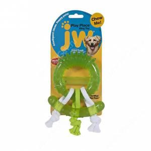 Жевательное кольцо JW Play Place Ring с канатами из каучука, зеленый