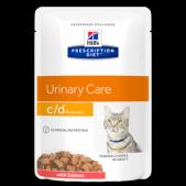 Hill's Prescription Diet c/d Multicare Urinary Care влажный корм для кошек для поддержания здоровья мочевыводящих путей с лососем, 85 г