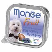 Консерва Monge Dog Fruit (Индейка с черникой), 100 г