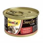 Консервы для кошек GimCat ShinyCat из тунца с лососем, 70 г