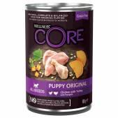 Консервы для щенков Wellness Core из курицы с индейкой и тыквой, 400 г