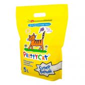 Наполнитель комкующийся PrettyCat Супер белый с ароматом лаванды, 4,2 кг